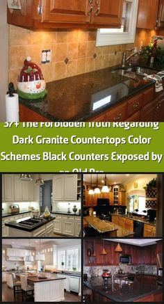 (paid link) Not all dark kitchens are black, dark wood cabinets are also popular when it comes to kitchen design. The contrast between black and dark brown ... #paintforkitchen #bestpaintforkitchencabinets Dark Brown Kitchen Cabinets, Dark Wood Cabinets, Brown Kitchens, Home Kitchens, White Cabinets White Countertops, Granite Countertops Colors, Black Counters, Painting Kitchen Cabinets, Kitchen Paint