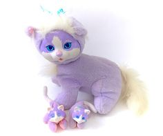 Vintage Hasbro Purple Kitty Surprise Complete With 2 Baby Kittens! Follow Me & Use The Coupon Code PINTEREST For 10% Off Your ENTIRE Order! Dozens of G1 My Little Ponies, Polly Pockets, Popples, Strawberry Shortcake, Care Bears, Rainbow Brite, Moondreamers, Keypers, Disney, Fisher Price, MOTU, She-Ra Cabbage Patch Kids, Dolls, Blues Clus, Barney, Teletubbies, ET, Barbie, Sanrio, Muppets, Sesame Street, & Fairy Kei!