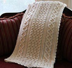 Ravelry: Braemar Cable Blanket pattern by Noelle Stiles Crochet Bedspread, Afghan Crochet Patterns, Crochet Blankets, Baby Blankets, Coverlet Bedding, Bedspreads, Crochet Cable Stitch, Crochet African Flowers, Knitted Afghans