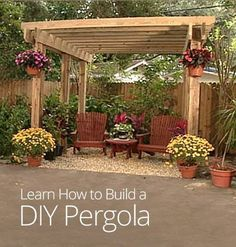 How to Build a DIY Pergola Dueck I think this would be pretty over all or part of our patio :) - CLICK THE PICTURE for Many Patio Ideas, Patio Furniture and other Perfect Patio Inspiration. by marisol Diy Pergola, Free Pergola Plans, Building A Pergola, Pergola Canopy, Metal Pergola, Wooden Pergola, Outdoor Pergola, Backyard Patio, Pergola Ideas
