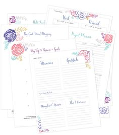 Free Printable Life Planning Pages