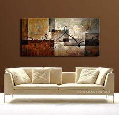 Abstract Original painting 48 x 24 Acrylic & Oil por Artcoast
