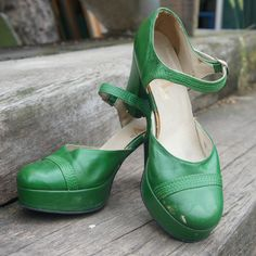 Vintage 70's schoenen @goodoldfashion.nl