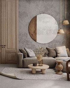 Home Living Room, Interior Design Living Room, Living Room Designs, Living Room Decor, Interior Decorating, Zen Decorating, Living Spaces, Bedroom Decor, Wabi Sabi