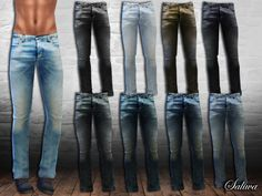 10 jeans in 1 package. Design by Saliwa. Have fun!  Found in TSR Category 'Sims 4 Male Everyday'