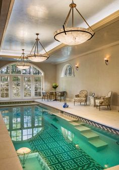 My Fantasy House Not Dream Would Have An Indoor Outdoor Pool Set Up Like This
