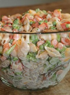 Creamy Pasta Salad. Easter lunch would be great instead of potato salad