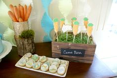 Carrot cookie pops--guess how much I love you birthday party