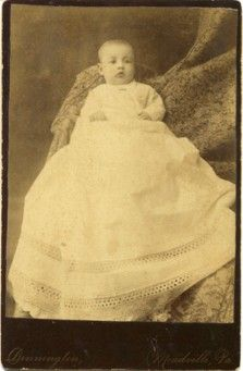 Vintage Photo Of Baby In Christening Gown