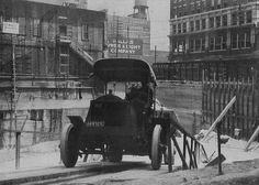Vilbig Brothers Construction Company, founded in 1886. built the foundations (literally) of some of Dallas's most well known buildings. Photo: A solid tire truck, with no suspension, was the precursor to dump trucks. This picture is most likely of the excavation of the basement of the Magnolia Building in Dallas, Texas at 1315 Commerce which was built in 1921.