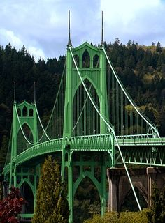 St. Johns Bridge Portland, Oregon. Photo by...Mesman Images. I grew up here!! I have walked and driven over this bridge hundreds of times!! Love it!! Heidi xoxo I have also been over this bridge it is Amazing !