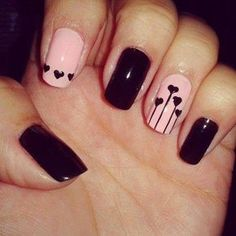 (Did these Elegant Short Nail Designs 2014 Nail Designs 2014, Heart Nail Designs, Simple Nail Designs, Pretty Designs, Heart Nail Art, Heart Nails, Cute Nail Art, Cute Nails, Nagellack Design