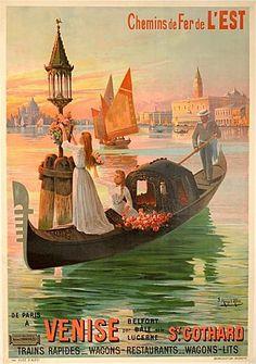 Vintage railway travel poster