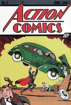 superman gifs classic Classic Superman Comic Book Covers Animated