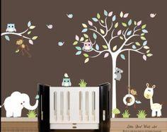 Kinder-Wand-Abziehbilder Bräune Baum Wand Aufkleber Vinyl