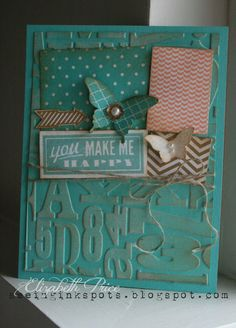 Seeing Ink Spots, Stampin Up, Butterfly punch, Elizabeth Price, you make me happy