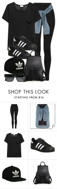 """Style #10770"" by vany-alvarado ❤ liked on Polyvore featuring Topshop, River Island, Yves Saint Laurent, adidas, adidas Originals, rag & bone and CÉLINE"