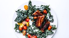 Kale BLT Salad  Thick slab bacon is key to this dish. Buy it packaged if you can find it or from the butcher.