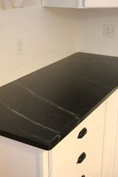 all about soapstone kitchen counters   Burritos and Bubbly