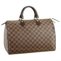 af0513777a19 New Louis Vuitton Damier Ebene Canvas Speedy 35 Brown