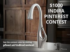 """The $1,000 Indira-inspired prize package was specifically curated by the Pfister Industrial Design Team to complement the """"Familiar by Unexpected"""" contemporary design of the Indira faucet – the new centerpiece of the kitchen. Visit: pfsoci.al/IndiraContest for details on how to enter! The Contest begins at 12:00:01 a.m. PDT on June 15, 2015 and ends 11:59:59 p.m. PDT on August 2, 2015. Enter to win today!"""