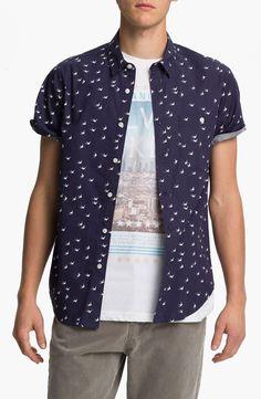 Topman Swallow Print Woven Shirt