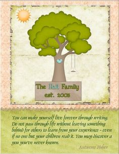 Family tree sampler quote #genealogy