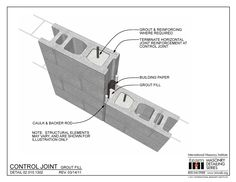 The Masonry Detailing Series is a collection of illustrative construction details & diagrams made for architects & engineers to use as a design resource. Precast Concrete, Concrete Blocks, Rigid Insulation, Fiberglass Insulation, Concrete Insulation, Masonry Construction, Construction Drawings, Ceramic Fiber Blanket, Arquitetura