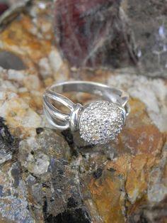 Genuine Diamond Sterling Ring by hollywoodrings on Etsy, $45.00