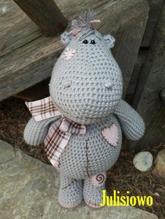 Crochet pattern . Crochet doll Hippo. PDF pattern . by JulioToys