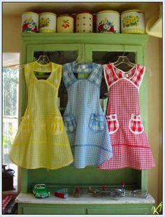 1940's vintage aprons
