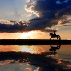 Oh, how I wish that was me riding into the sunset!