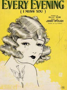 Vintage Ads, Vintage Images, Vintage Posters, Sheet Music Art, Vintage Sheet Music, Orange Show, Grunge Art, Illustration Art, Illustrations