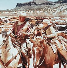 John Wayne and The Cowboys....watched this movie ALOT