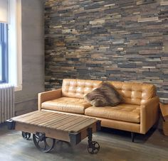 Realstone Systems Reclaimed Wood Dark Panels add a touch of warmth to your space. Green House Design, Design Your Dream House, Modern House Design, Reclaimed Wood Wall Panels, Wood Panel Walls, Icf Home, Wooden Diy, Wood Design, Decorating Your Home