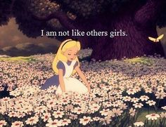 She's not. She isn't like many of the other Disney girls. Alice went through a grand adventure through wonderland, having curiosity and being a little naïve and her story was beautiful. Her story wasn't about falling in love or anything like that. The story of Alice is genuinely unique. People always criticize it saying all the characters are druggies and everything but it was a story from the imagination and it's amazing.