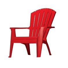 Adams High Back Stacking Ergonomic Adirondack Chair in Cherry Red -  Adirondack u0026 Rocking Chairs