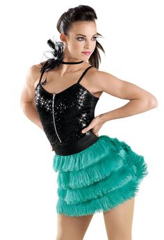 Zip Front Sequin Fringe Dress -Weissman Costumes