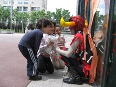 Today I was in a Con wearing my Rufioh cosplay. Since it was a really windy day, I was taking a little break on the sun when a group of childs came to me and asked me what I was.I make some role-play and I started to tell them things acting like Rufioh. Look at their faces. They are really excited. They loved Tinkerbull, by the way :)
