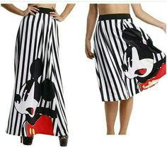 Long or short skirt 😍😍😍😍😍 Please go to www.urmusthaves.bigcartel.com or click the blue link under the bio for pricing and availability. #mickeymouse #blackandwhite #mickeyparty #celebrity #fall #mickey #party
