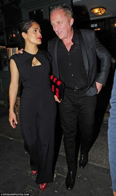 Happy couple: Salma Hayek, 48, and husband Francois-Henri Pinault, 53, looked totally in l...