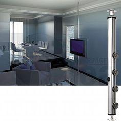 Suporte para TV tubo giratório 360° - inox - até 3,00 mts - Fea Ferragens e Acessórios