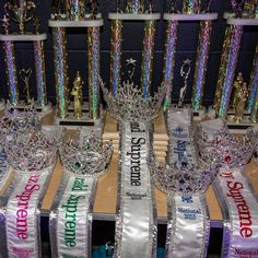 My Sash And Crown Display Pageant Chic Trophy