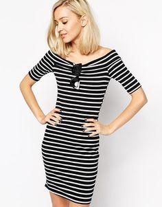 River Island Stripe Bardot Dress $57.16