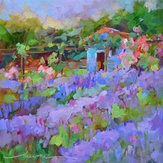 """""""Second Chance for France and The Magic of Lavender"""" - Original Fine Art for Sale - © Dreama Tolle Perry"""