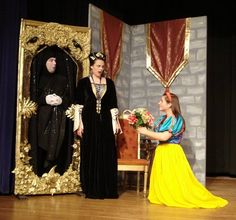 Snow White meets her new stepmother the Queen, played by Kara Ratner, and the Magic Mirror, played by Brad Leak. <br>Cherokee Tribune/Special