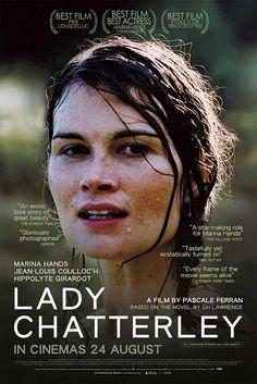 """Lady Chatterley - Pascale Ferran 2006 -- """"Dans le château des Chatterley, Constance coule des jours monontones, enfermée dans son mariage & son sens du devoir. Au printemps, au cœur de la forêt de Wragby, elle fait la connaissance de Parkin, le garde-chasse du domaine. Le récit d'une rencontre, d'un difficile apprivoisement, d'un lent éveil à la sensualité pour elle, d'un long retour à la vie pour lui. Ou comment l'amour ne fait qu'un avec l'expérience de la transformation."""""""