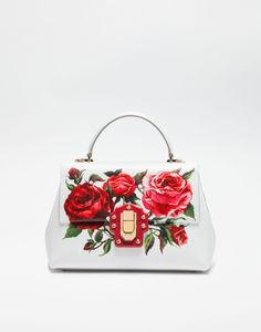 d405e3d9dcc9 MEDIUM PRINTED LEATHER LUCIA BAG - Dolce   Gabbana Dolce And Gabbana  Handbags