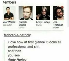 Patrick is an adorable cinnamon roll.  Pete is a fabulous sour apple. Andy is a cool tomato.  Joe is a sweet Cheeto.