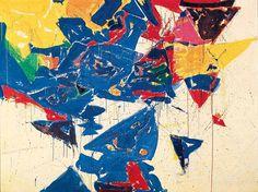 Sam Francis, Middle Blue III, 1959, olieverf op doek, 183 x 244 cm, San Francisco Museum of Modern Art. Biografie Francis: http://www.artsalonholland.nl/grote-meesters-kunstgeschiedenis/sam-francis